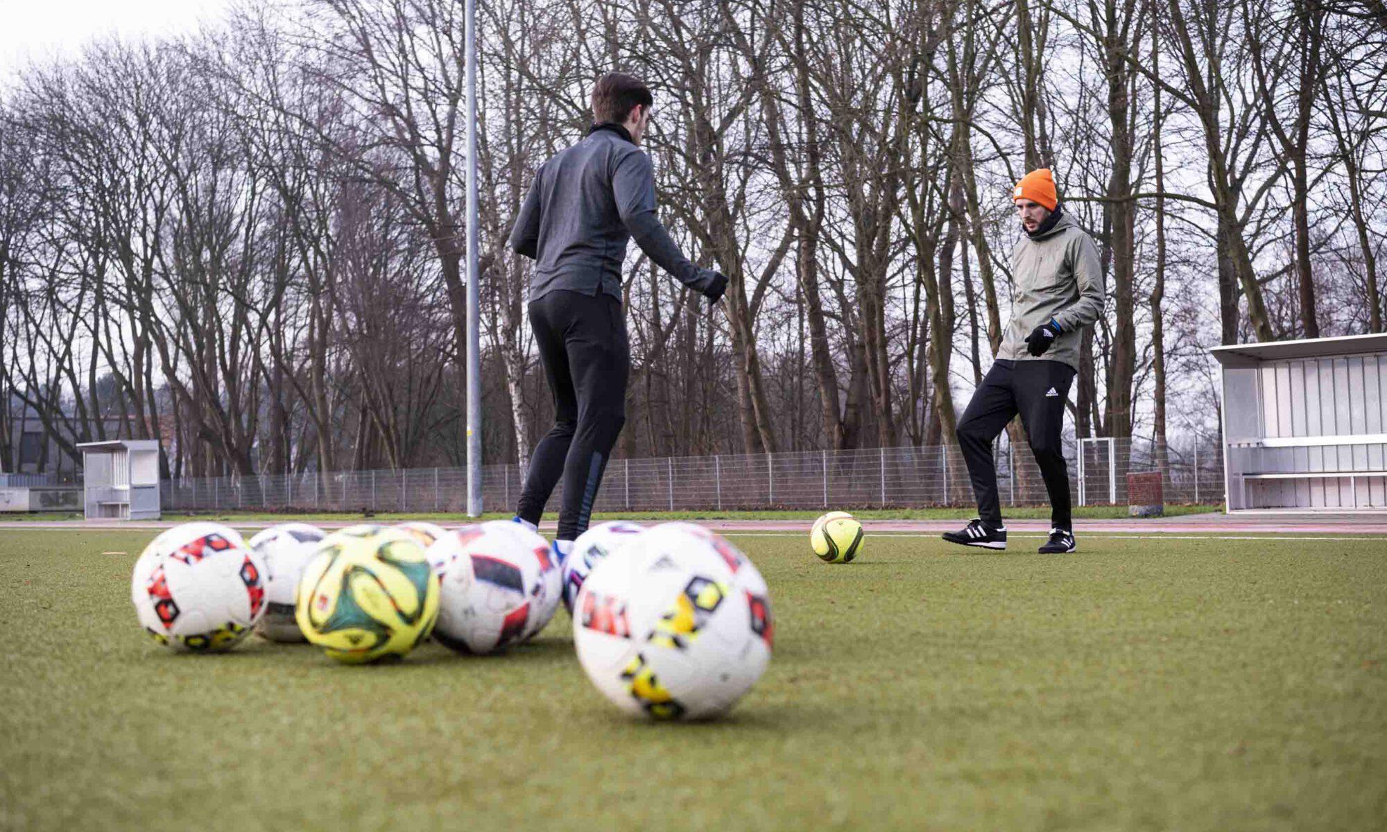 Fußball Einzeltraining mit Trainer Jan-Hendrik Schmidt